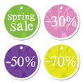 Spring sale design round label Stock Images