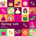 Spring sale fashion design template card vector background Stock Images