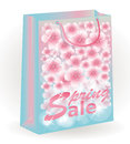 Spring sale floral shopping bag illustration Royalty Free Stock Photography