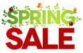 Spring sale isolated Royalty Free Stock Images