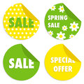 Spring sale labels set of vector Royalty Free Stock Images