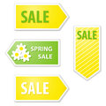 Spring sale labels set of vector Royalty Free Stock Photography