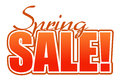 Spring sale orange illustration sign Stock Photography