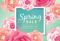 Spring sale poster Royalty Free Stock Photo