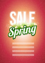 Spring sale poster design template elements are layered separately in vector file Royalty Free Stock Image