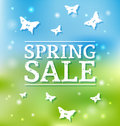Spring sale poster vector illustration Stock Photography