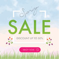 Spring Sale social network square banner