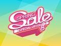 Spring sale, special offer