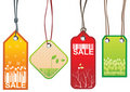 Spring sale tags Stock Photo