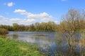 Spring scene on lake Royalty Free Stock Photo
