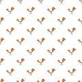 Spring seesaw pattern, cartoon style