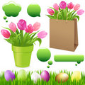 Spring Set. Vector Royalty Free Stock Photo