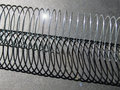 Spring and shadow detail elongated coil with Stock Image