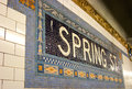 Spring St. Subway Stop, NYC Stock Photography
