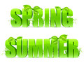 Spring and Summer words. Royalty Free Stock Images