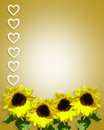 Spring Sunflowers Page Border  Royalty Free Stock Photo