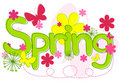 Spring Text Royalty Free Stock Photography
