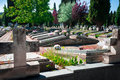 Spring time in the cemetery St Jose. Burgos Royalty Free Stock Photo