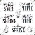 Spring time wording Royalty Free Stock Photo