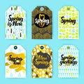 Spring Trendy Hipster Gift Labels