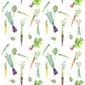 Spring vegetables pattern