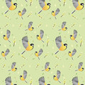 Spring Wallpaper With Birds. B...