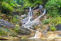 Spring Waterfall Tien Sa falls in Sapa Vietnam Royalty Free Stock Photo