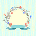 Spring wreath. vector floral background