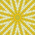 Spring yellow abstract kaleidoscope Royalty Free Stock Photo