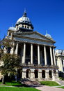 Springfield illinois state capitol building the classical facade with doric columns and great dome of the house Royalty Free Stock Images