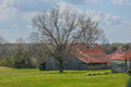 Springtime Barn on Farm Royalty Free Stock Photo