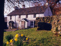 Springtime, Blea tarn farmhouse, Cumbria Royalty Free Stock Photography