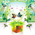 Springtime box Royalty Free Stock Images