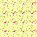 Springtime colorful cosmos flower seamless pattern background Stock Photography