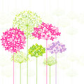 Springtime colorful flower on dandelion seamless pattern background Stock Photos