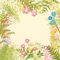 Springtime Colorful Flower Garden Party Background