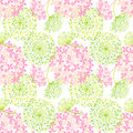 Springtime colorful flower seamless pattern background Royalty Free Stock Photography