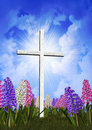 Springtime Easter Cross Stock Image