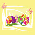 Springtime Easter holiday wallpaper Stock Image