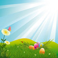 Springtime easter wallpaper Stock Image