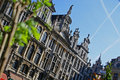 Springtime on the Grand Place in Brussels Royalty Free Stock Photo