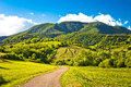 Springtime landscape on Plesivica hills Royalty Free Stock Photo