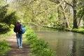 Springtime river walk Stock Photo