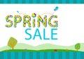 Springtime Sale Season Concept Template. Editable Clip Art. Royalty Free Stock Photo