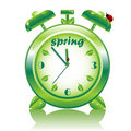 Springtime, vector alarm clock Royalty Free Stock Photography