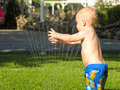 Sprinkler fun Royalty Free Stock Photography