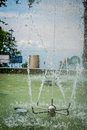 Sprinkler in water fountain at a park, Manizales Royalty Free Stock Photo