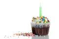 Sprinkles Cupcake Royalty Free Stock Photo