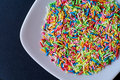 Sprinkles in a dish Stock Photo