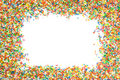 Sprinkles frame Royalty Free Stock Photo